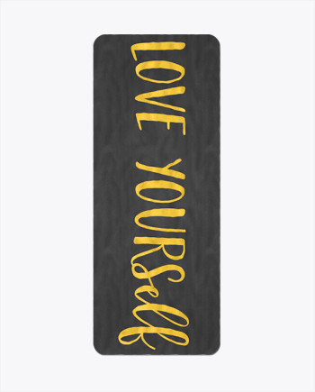Love Yourself Gold Yoga Mat