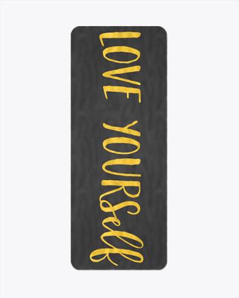 Love Yourself Gold Yoga Mat